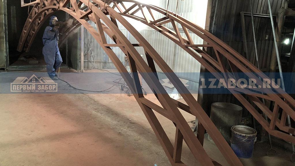 Порошковое покрытие крупногабаритных металлоконструкций