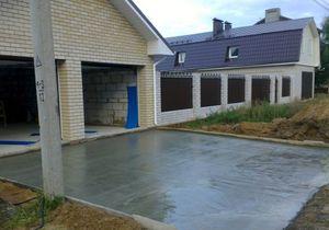 Цены на бетонные площадки: для авто, для дома